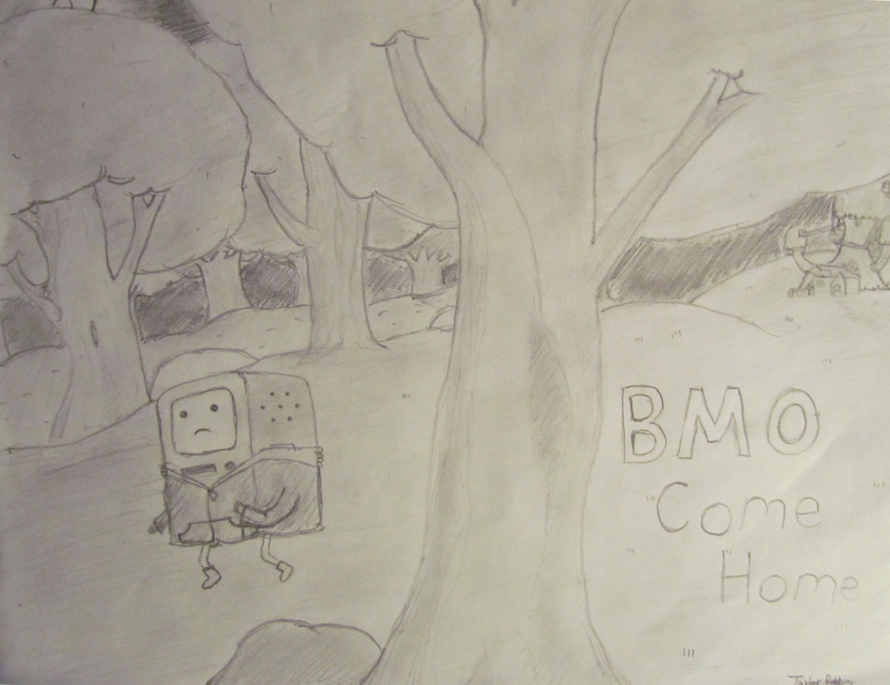 'A typical child running away from home story.' Don't leave BMO! Thanks trobbins fro the submission.