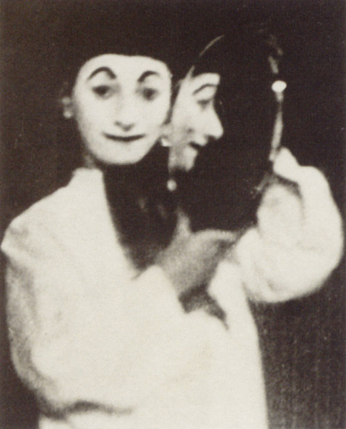 self-portrait as Pierrot,Erwin Blumenfeld