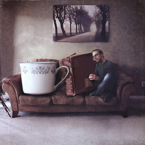 """You can never get a cup of tea large enough or a book long enough to suit me."" - C.S. Lewis (by Boy_Wonder)"