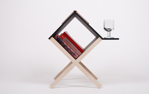 industrialist:  Buchtisch, the book table, by Studio Voigt Dietrich