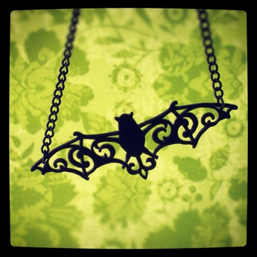 Bat necklace at #shanalogic.com