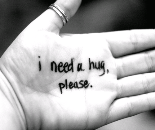 I love to hug people….