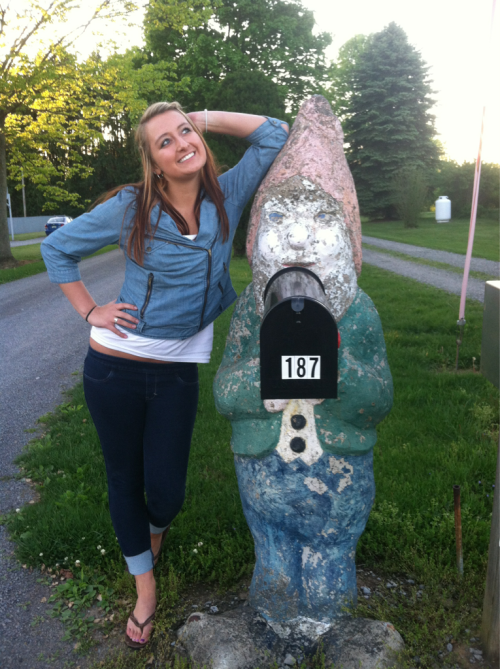 Life size gnome say what?!
