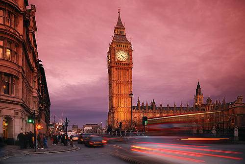London traffic trails & Big Ben [Explored] (by ryme-intrinseca (playing catch-up!))