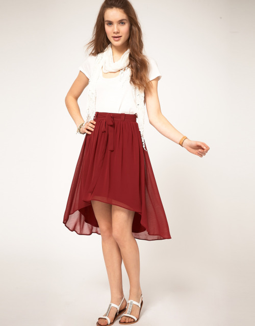 A Wear Skirt With Stepped HemMore photos & another fashion brands: bit.ly/JgPpLV