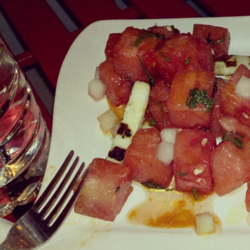 Watermelon salad! (Taken with instagram)