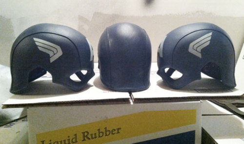 kingisstillamused:  lilprince:  reevzfx:  more Capt. America TFA helmets stenciled…straps getting added this weekend…..go to www.reevz666.com for info   Just having thoughts, but how cool would a Daredevil cowl made up like this with the chin strap and a more realistic look be  That would be pretty awesome    I think bringing more realism to human superheroes, like Daredevil, is always good thing! =)