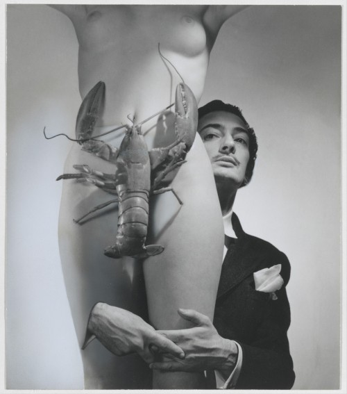 escapeintolife:  thisartisyours George Platt Lynes - Salvador Dali, 1939.Gelatin silver print with applied pigment