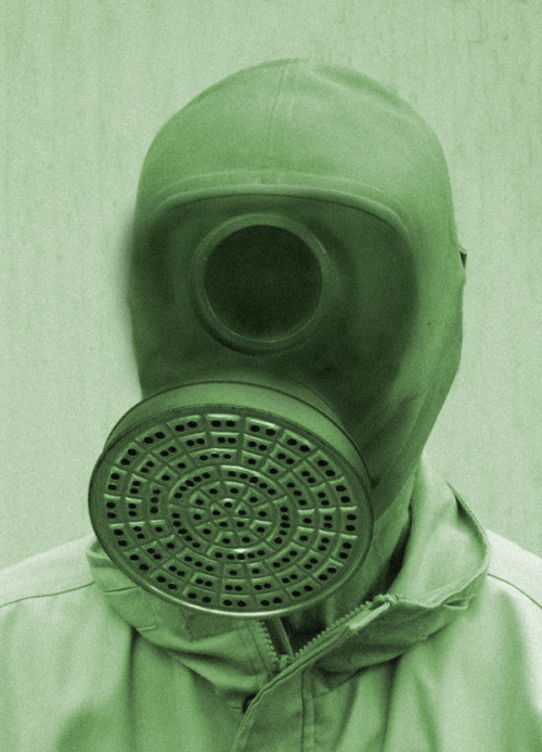 Cyclops Gas Mask.Sean Hopp, 2012. Collage.