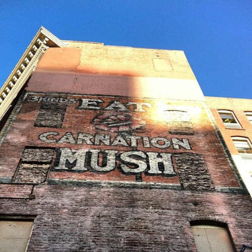 Mushy! #sanfrancisco #advertisements #vintageads (Taken with instagram)