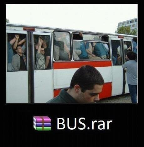 xDD lol! Gotta unzip that bus… xD