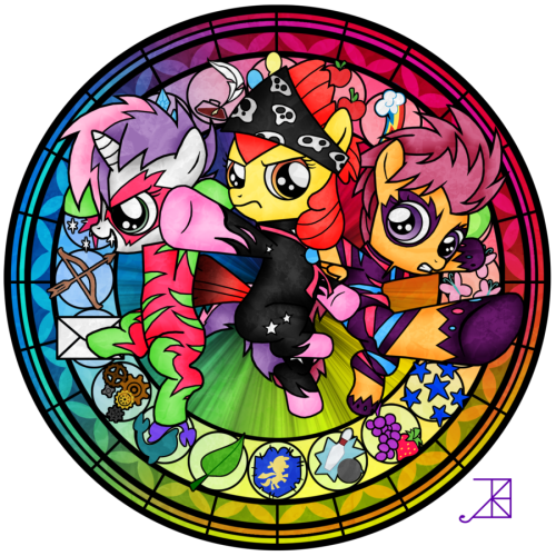 werd10101:  Stained Glass: CMC -talent show- by ~Akili-Amethyst