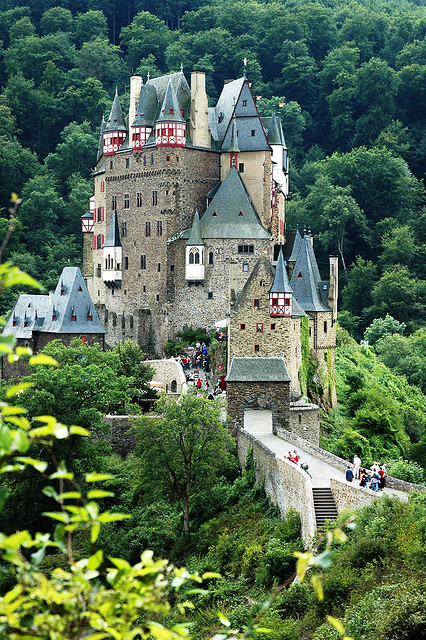 allthingseurope (Burg Eltz, Germany (via Cam B.)) this is the castle in my mind.