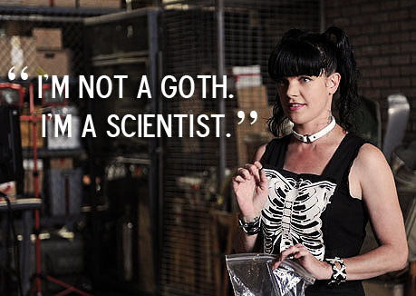 Icdc Homeland Security on Goth Scientist Abby Sciuto Pauley Perrette