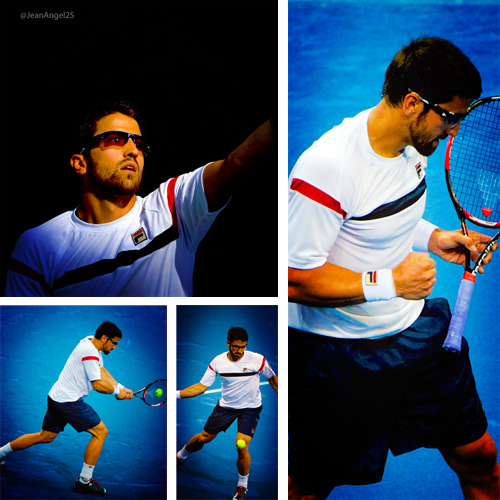 Srećno @TipsarevicJanko you can win!! We believe in you Ajde! Janko Tipsarevic about to play Semifinals of Madrid 2012 vs Roger Federer