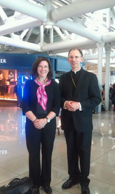 10:00 am - Bishop Jugis and I are pictured here waiting to catch our flight back to Charlotte. The ad limina trip has been an incredible experience! There are still more stories to share so stay tuned!