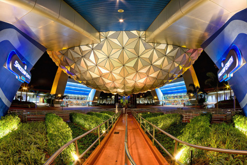 fuckyeahdisneyphotography:  A Grand and Miraculous Spaceship (Fisheye Friday #33) by Brendan Meier on Flickr.