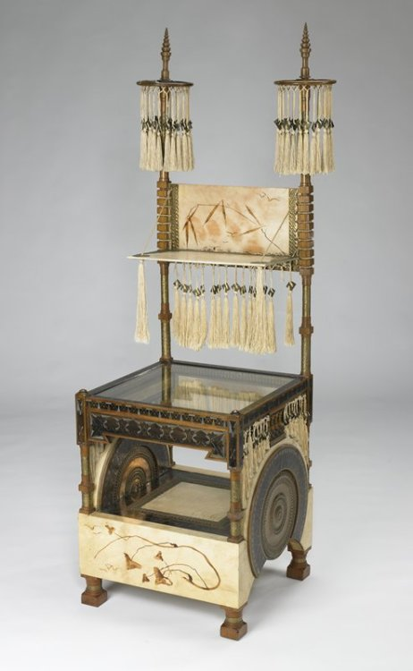omgthatartifact:  Chair Carlo Bugatti, 1885-1890 The Minneapolis Institute of Art