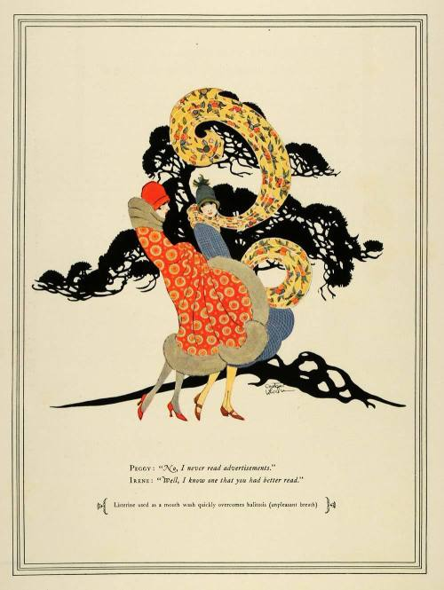 sydneyflapper:  Listorine ad 1925…combating haliotosis in style!