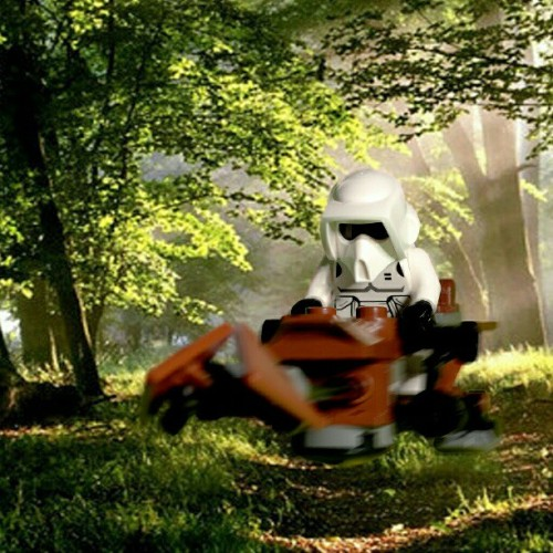 Just messing around with my new #starwars #lego #speederbike and a greenscreen. :) #toyphotography #toys  (Taken with Instagram at SIMpixels Photography)