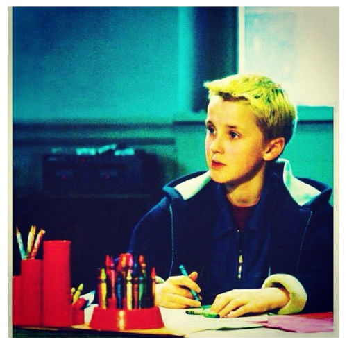 Tom Felton is coloring with crayons. Your argument is invalid.