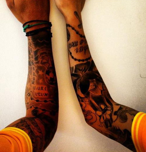 Thiago and Tello tattoos