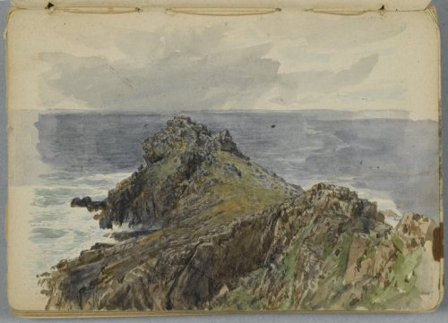 playinprogress:  Sketchbook page, by William Trost Richards.