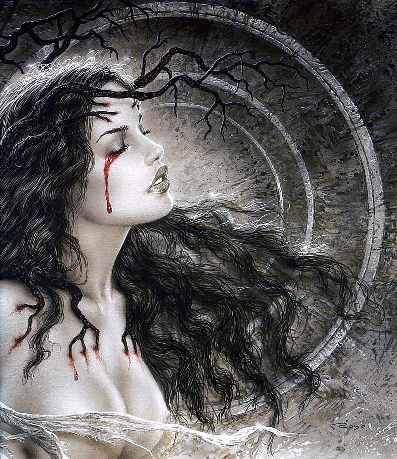 erosart:  Luis Royo Mother Earth (off 'Fantastic Art')