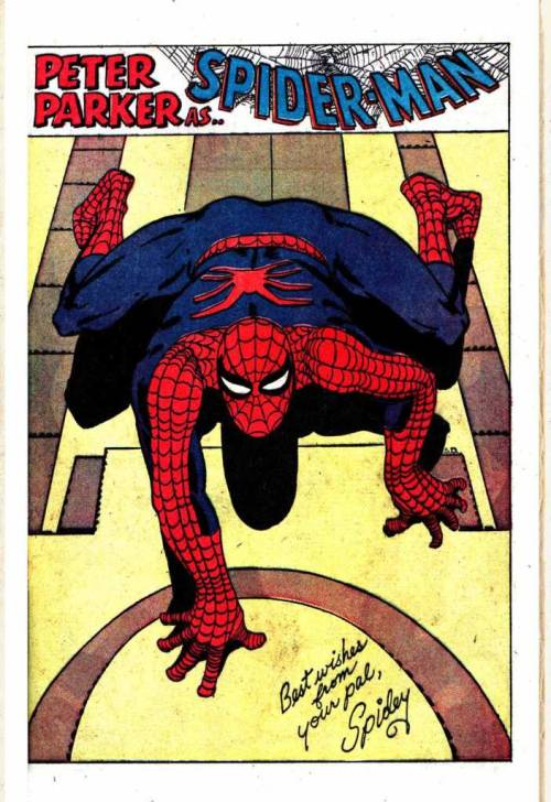 Pin-up from the very first Amazing Spider-Man Annual, way back when.