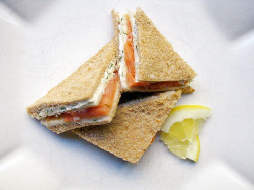 Salmon and Cream Cheese Triangles!