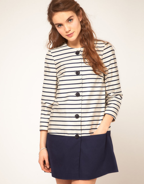 ASOS Stripe Collarless MacMore photos & another fashion brands: bit.ly/JgPXRU