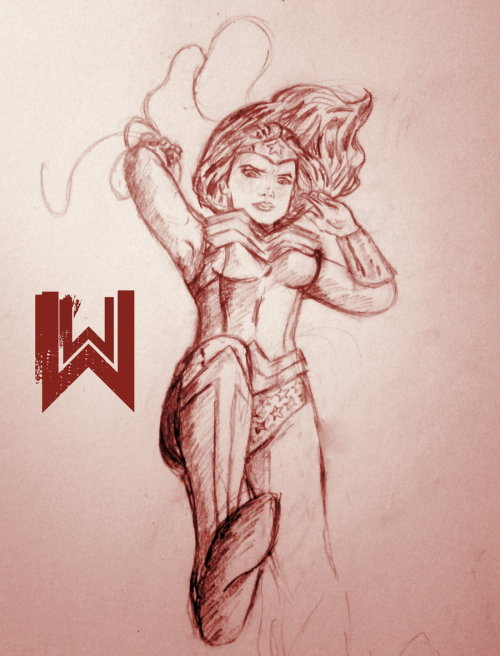 lulubonanza:  Wonder Woman Sketch by ~thewipeout