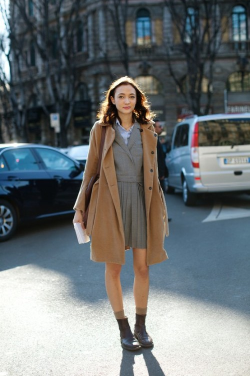 (via My Style) street style, in preppy cool. love this, effortlessly chic.
