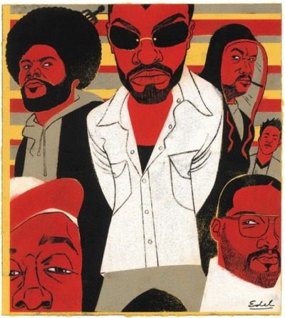 newmanology:  The Roots, for The New YorkerIllustration: Edel Rodriguez, art director: Christine Curry Source: Edel Rodriguez