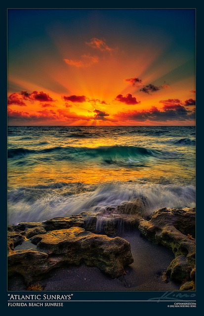 Sunrise at Florida Beach Over the Atlantic Ocean by Captain Kimo on Flickr.