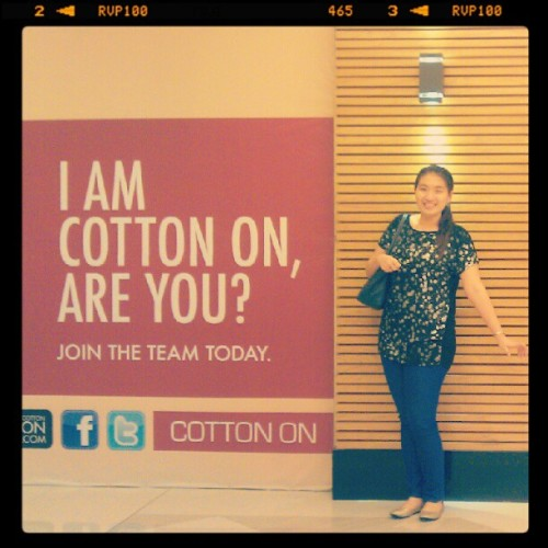 Impersonating Barnabas Collins @ soon-to-open Cotton On! (Taken with instagram)