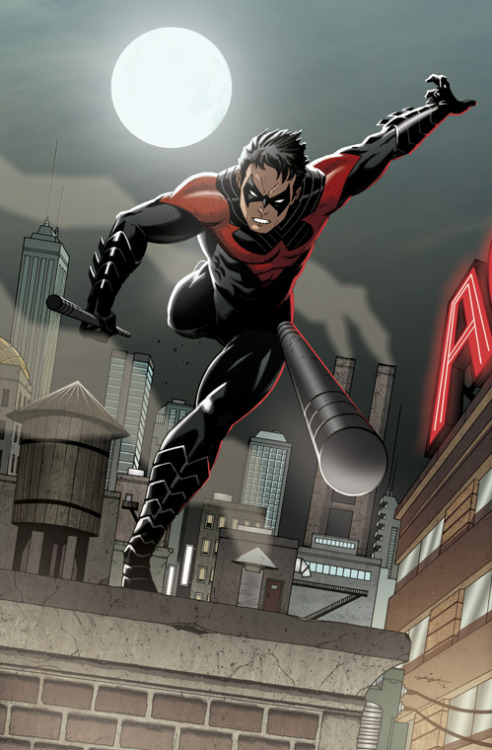 youngjusticer:  .Nightwing, by Ian Navarro.