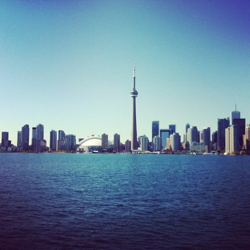 Toronto, you look good from the waters. #toronto #islands (Taken with instagram)