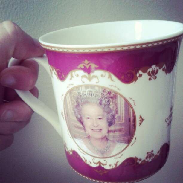 The only way to drink coffee is with the Queen (Taken with instagram)