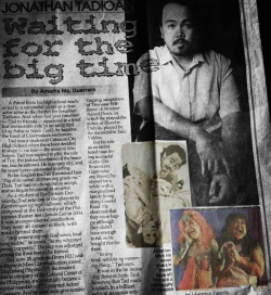 Theater Actor, Jonathan Tadioan, was published at the Philippine Star Entertainment Section dated April 20, 2012 by Amadis Ma. Guerrero.  *Highlighted photos are the ones that I took. Newspaper photo courtesy of the artist himself.