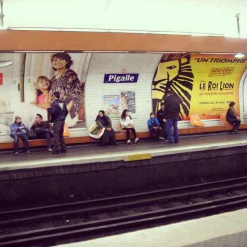 #Pigalle #metro #paris (Taken with instagram)