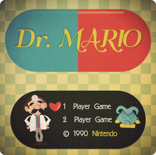 DocMario on Flickr.Doc Mario Via Flickr: Dr Mario Title screen in a vintage style