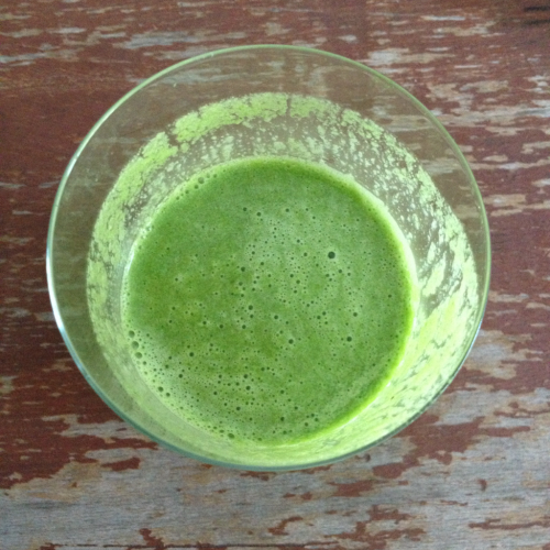 Another day, another kale shake.