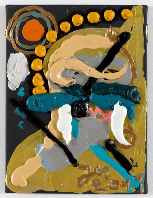 "JONATHAN MEESE, DER UNWÄHLBARE ""TIERGRAL"", 2011. 40,1 x 30,4 x 2 cm, oil, acrylic and acrylic modelling paste on canvas"