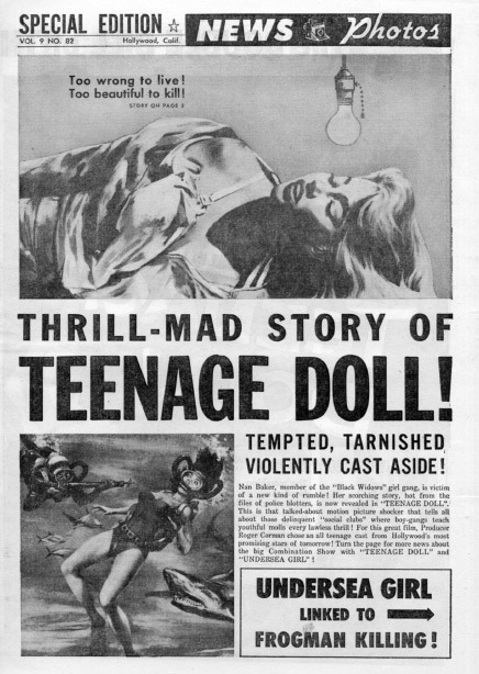 todf:  Teenage Doll, backed with Undersea Girl.