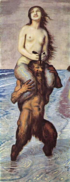 essentialsublimeabsurd:  Faun and Mermaid by Franz von Stuck