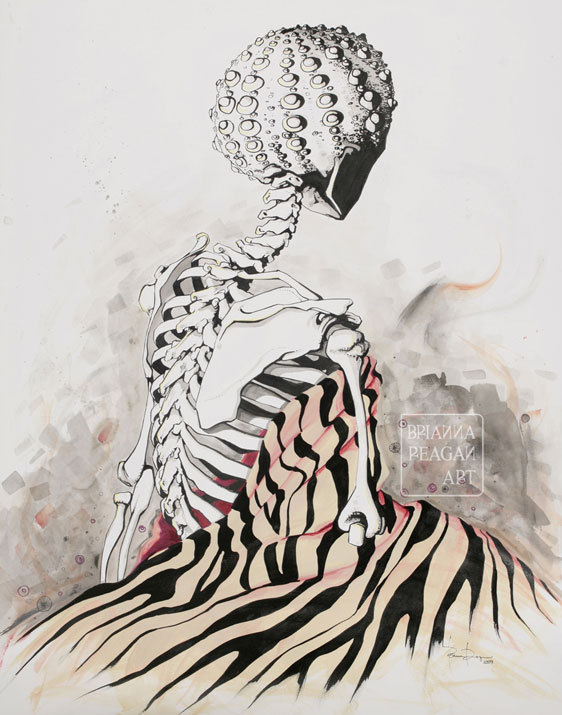 briannareaganart.com Brianna Reagan, Bones, 2008, mixed media on Bristol, 22.5x28.5