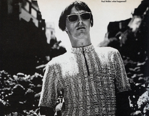 Paul Weller, Q Magazine, 1992.  Photo: Lawrence Watson