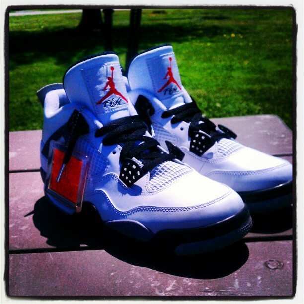 Look at that #swag of these beautiful #Cement4s <33 #TeamSneakerHeads #TeamYungAzLaN (Taken with instagram)