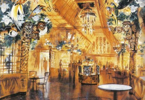 """Walt said [to Imagineer John Hench], 'I want to do a little Tiki Room. I just want a little Tiki-Tiki Room for over in Adventureland. We're redoing Adventureland.' Walt took one look at [Hench's concept art for a restaurant] and said, 'John, you've got birds in there.' Hench said, 'Yeah,' and Walt said, 'Well, you can't have birds in there, they're going to poop in the food!' Yeah, he really said that. Hench explained that they were not real birds, but stuffed birds, but Walt immediately replied, 'Disney does not stuff birds.' Hench replied, 'No, no, no. They're little mechanical birds that cheep.' Walt said, 'Well, maybe they can cheep and cavort with each other.' And that's how we started the Tiki Room. Then all of a sudden we started to develop the works of these little guys and the sounds and everything. So all of a sudden that was in production."" — Rolly Crump, Imagineer"